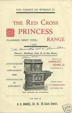 The Red Cross Princess Range illustrated Brochure 1900