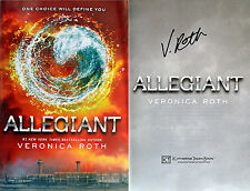 Veronica Roth~SIGNED~Allegiant~1st/1st HC + PHOTOS!! Book 3 of Divergent