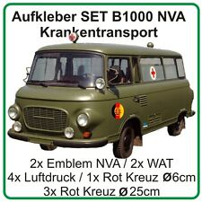 Aufkleber Set für Barkas B1000 Krankentransport Sankra Emblem NVA DDR Rot Kreuz