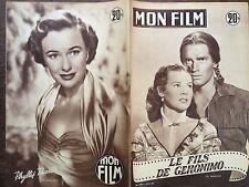 """MON FILM 1953 N 378 """"LE FILS DE GERONIMO"""" : CHARLTON HESTON - SUSAN MORROW"""