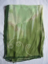 New Feather  Design Scarf Wrap Green