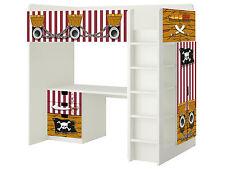 Piraten Möbelsticker / Aufkleber für STUVA Hochbett Kombi von IKEA - SH02