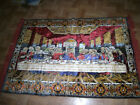 Huge beautiful Velvet Last Supper tapestry 39 x 60 Jesus 12 Apostles, Wine Bread