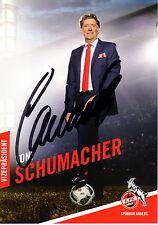 Toni Schumacher 1.FC Köln 2016/2017 handsignierte Autogrammkarte 16/17