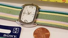 Louis Arden Quartz watch Striped green band white Dial Girls Woman