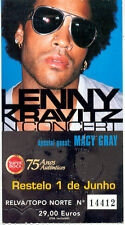 LENNY KRAVITZ MACY GRAY PRINTED USED CONCERT TICKET 01/06/2002 PORTUGAL