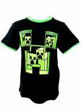 Minecraft Creeper T-shirt Schwarz/grün 128
