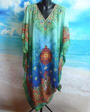 Kaftan Dress 1 Left! One Size New Beach Summer Wear  Swarovski Crystals