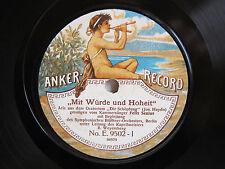 78rpm FELIX SENIUS sings Haydn: Die Schöpfung - RARE ANKER RECORD E 9502