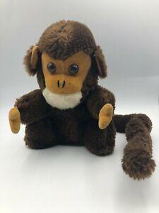 Vintage 1973 R Dakin Baby Mooch Monkey Ape Brown Plush Soft Stuffed Toy Animal