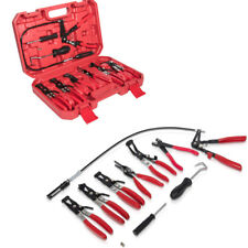 Wire Long Reach Spring Hose Clamp Pliers Set Fuel Oil Water Auto Snap on Tool #y