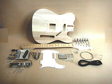 Complete NO-SOLDER DIY Kit - Telecaster Style Electric Guitar + Tuner + Picks