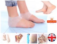 Silicone Heel Support Socks Gel Orthotic Plantar Care Insert Insoles Cushions