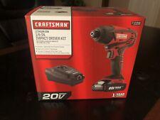 """Brand New CRAFSTMAN 20v 1/4"""" Impact Driver Kit Model# 10298"""
