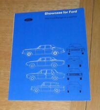 Ford Range Brochure 1967 Anglia Lotus Cortina 1600E Zodiac Zephyr Corsair 2000E