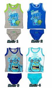 Monster AG Unterwäsche Set Garnitur 98 104 110 116 122 128 Slip Unterhemd Junge