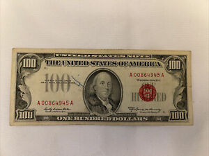 1966  $100 United States Note - Red Seal