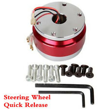 Snap Off Steering Wheel Quick Release Boss kit Hub Adapter Red For Car Racing