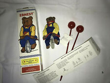 Vintage Ernest The Balancing Bear Unicycle Toy 1995 Schylling with Box