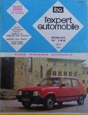 Revue technique TALBOT SAMBA LS GL GLS CABRIOLET GLS 80 HP RTA EXPERT 196 1983