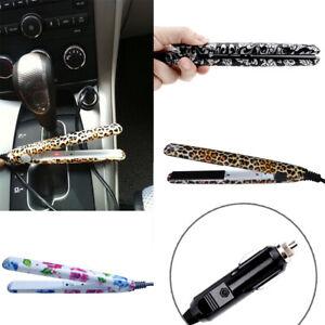 Mini Electronic Ceramic Hair Straightener Flat Iron - Portable 12v For Car Plug#