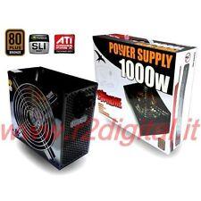 ALIMENTATORE PC VULTECH ATX 1000 WATT EXTREME 80+ MODULARE VENTOLA SILENZIOSA PC
