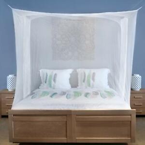 Poly Cotton Double King/Queen Size Mosquito Net (White 8x8 feet) KU