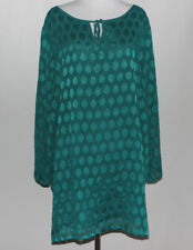 Womens LINEA By LOUIS DELL'OLIO Chiffon Jacquard Tunic Top Size XL