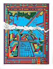 CITY #364 Architecture Translated to Beautiful Art; Serigraph By Risaboro Kimura