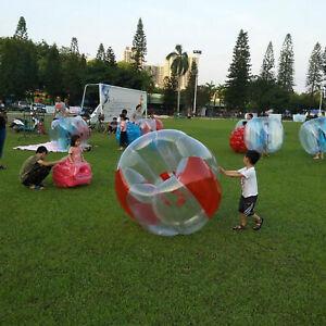 90cm PVC Inflatable Bubble Ball Beach Bumper Soccer Knocker Zorb Ball Toy