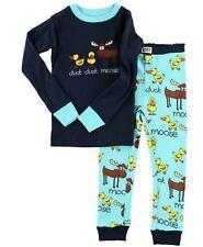 Lazy One Boys PJ Pajamas Sleepwear DUCK DUCK MOOSE SIZE 4T