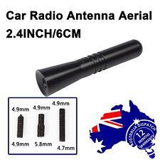 Black 6cm Car Stubby Aerial Short FM Signal Antenna For Peugeot 207 307 308 407