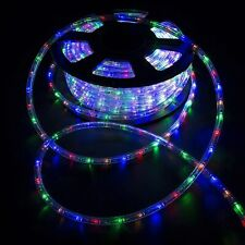 100FT LED Rope Light Xmas Party Christmas Strip Light Multi-Colorful Decoration