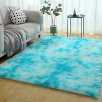 Fluffy Anti-Skid Shaggy Area Rug Mat Living Room Bedroom Carpet Floor Soft T1Y5