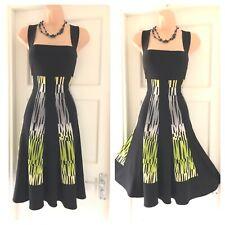 Gorgeous Frank Lyman Multi Colour Stretchy Floaty Dress Size 12