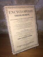 Dictionnaire de théologie morale par l'Abbé Pierrot 1849 tome premier | Bergier