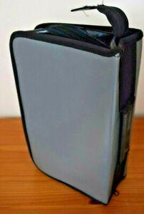 Generic Black/Grey Convenient Size Portable Compact Disc Case holding 120 CD's.