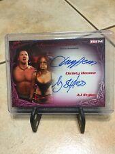 2009 TRISTAR TNA Knockouts Christy Hemme A.J. Styles 3/25 AUTO Autograph RARE
