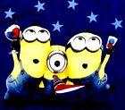 Despicable Me 2 Minion Dave Stuart Tim July 4th Patriotic T Tee Shirt Top Blue