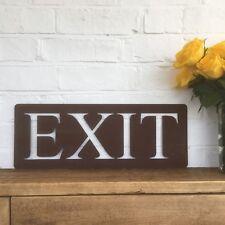 Big Rusted Exit Sign Metal Shop Home Bar Pub Cafe Plaque Industrial Rustic