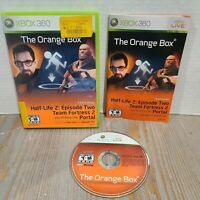 The Orange Box Half Life 2 (Xbox 360, 2007) - Complete - CIB Manual Case Valve