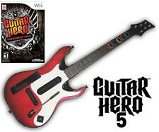 NEW Nintendo Wii Guitar Hero 5 Wireless Guitar & GH Warriors of Rock Game B