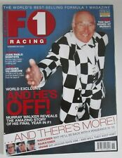F1 Racing Magazine November 2001 ~ Murray Walker ~ Tyrrell ~ Raikkonen Hakkinen