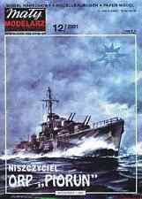 Maly Modelarz 12/01 Destroyer de la polonais Marine ORP Piorun 1:200