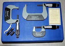 dasqua Lot de 3 Micromètres 0 - 75 mm/0.01 mm (réf:41118205) de Chronos