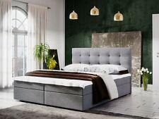 Boxspringbett Schlafzimmerbett KERLON 160x200cm Grau inkl.Bettkasten