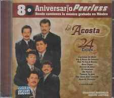 CD - Los Acosta NEW 24 Grandes Exitos PEERLESS 80 Aniversario FAST SHIPPING !