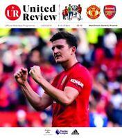 Manchester United v Arsenal ~ 2019/20 Premier League Programme