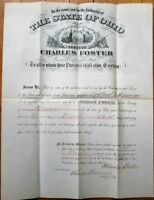 CHARLES FOSTER Ohio Governor 1881 Autograph/Signed American Bank Note Document