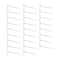 """20 Pc GLOSS WHITE 8"""" Long Gridwall Hooks Grid Panel Display Wire Metal Hanger"""